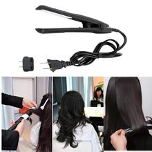 Mini Electronic Hair Straightener Iron Curler Professional Tourmaline Ceramic Heating Plate Hair Straightener Styling Tools kemei 2209 professional hair flat iron curler hair straightener irons 110v 220v eu plug tourmaline ceramic coating styling tools