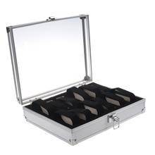 Алюминий 12 наручные часы для часов на презентацию, витрину чехол для хранения коробка