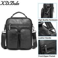 X. D. BOLO 2019 сумки на плечо для мужчин сумка мужская из натуральной яловой кожи черная Дорожная сумка через плечо сумка модная мужская сумка