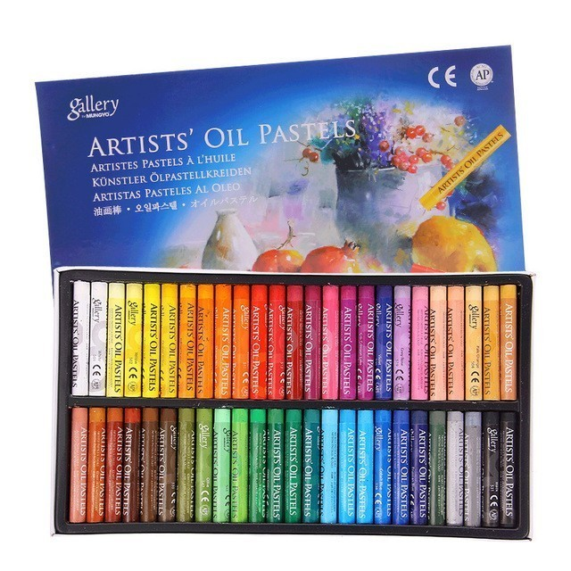 MUNGYO MOPS Oil pastels 12/25/48 Colors Round Shape Oil Pastel for Artist Student Graffiti Painting Drawing Pen Soft Crayon 1