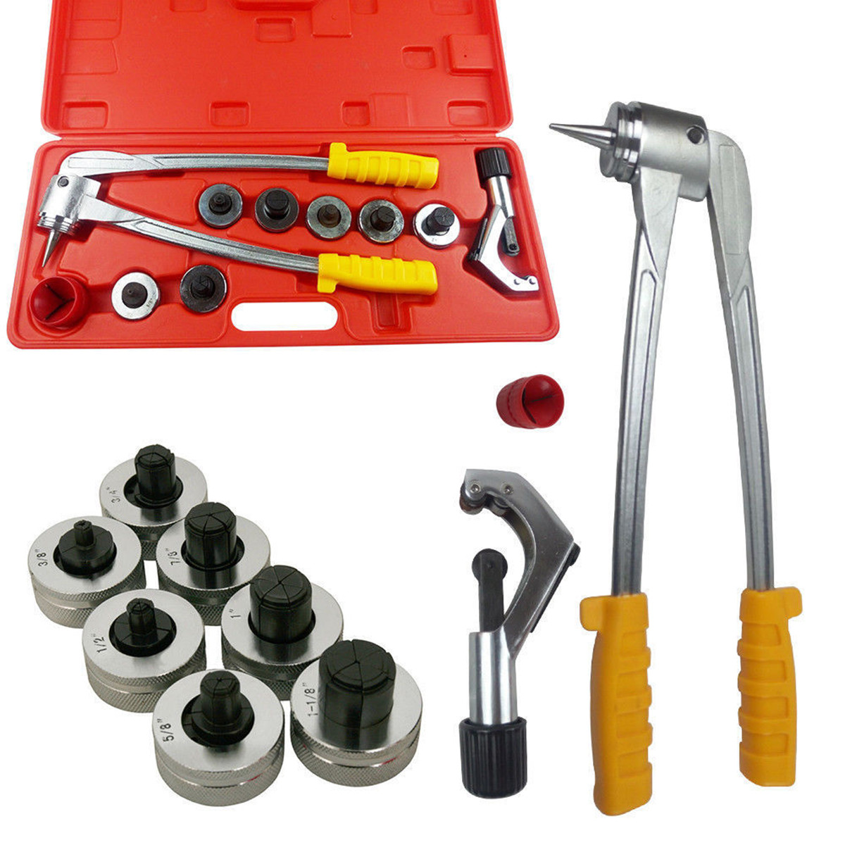 Pipe Expander Tool Arrival Tube Expander Tool Kit Pipe Expander Heavy Duty Plumbing Tube Cutter Plumbing Air Conditioner T018 7 42mm heavy duty tube cutter ct 312