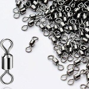 Image 4 - 10 50 Stuks Ball Bearing Swivel Solid Ringen Vissen Connector 1 Cm Lengte Oceaan Boot Vissen Haken