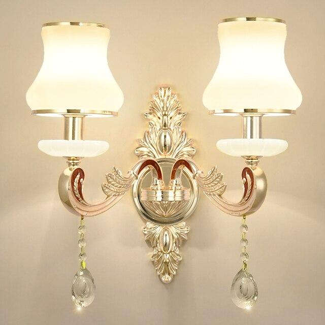 Royal 1 2 Pcs Villa Hotel Parlor Art Deco Crystal Wall Lamp Indoor Sconce