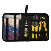 Stripping Crimping Terminals Tool Kit Cable Pliers 0.5-6Mm Cutting Wire Screwdriver Plug/Tube/In