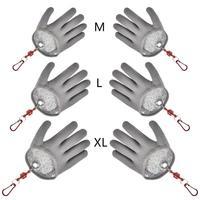 1 шт. перчатки для ловли рыбы противоскользящие водонепроницаемые ПЭ нейлоновые рыболовные перчатки анти-порезные перчатки для укуса анти-...