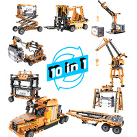 CaDA High Simulation Port Engineering Building Blocks Set With Intelligent Sound And Infrared Induction Motor Kids Toy