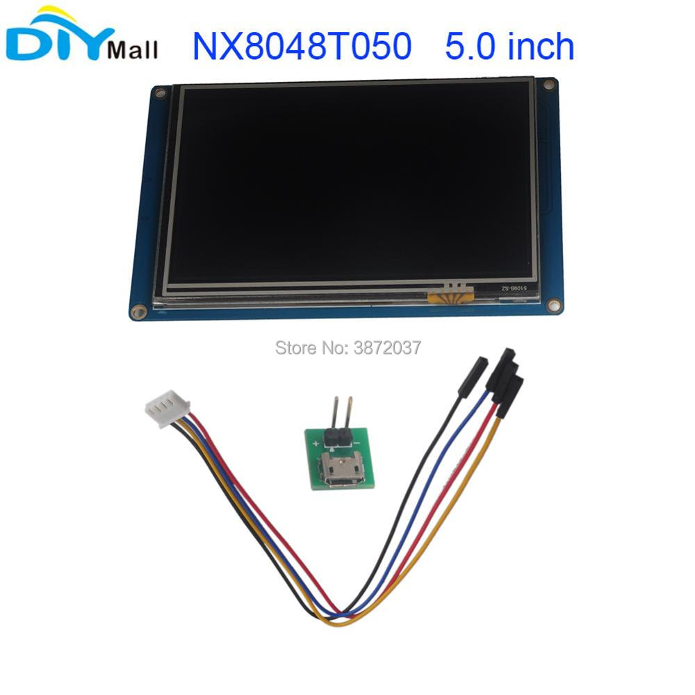 Nextion 5 0 TFT 800x480 NX8048T050 HMI Resistive Touch Screen UART Smart Display Module for Arduino