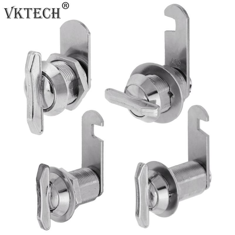 16/20/25/30mm Mailbox Cabinet Lock Keyless Cam Lock for Boat Door Bus Cabinet Toolbox Hand Screw Hardware Locks