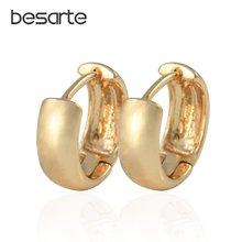 Маленькие серьги кольца золотого цвета для женщин в африканском