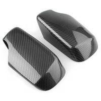 Car Exterior Rear View Side Mirror Cover Trim For BMW E46 1998 1999 2000 2001 2002 2003 2004 2005 Carbon Fiber ABS Plastic 2PCS