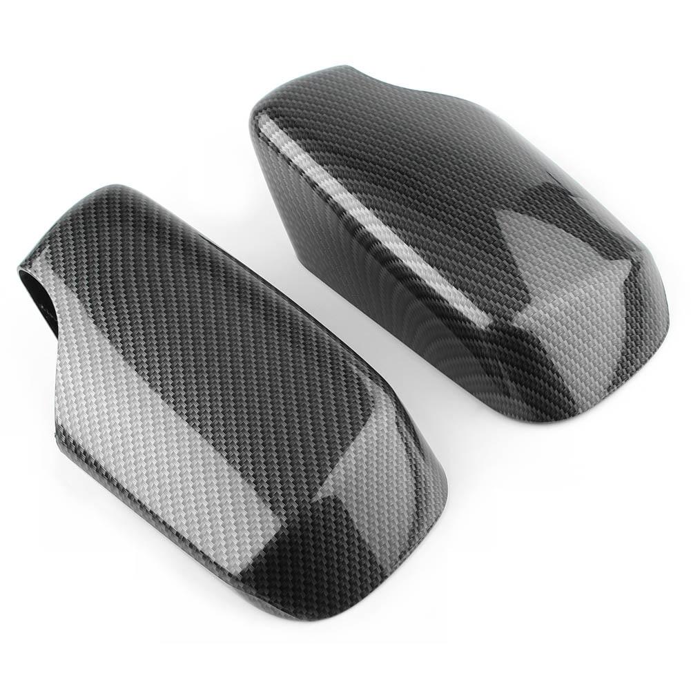 Garniture de couverture de rétroviseur extérieur de voiture pour BMW E46 1998 1999 2000 2001 2002 2003 2004 2005 Fiber de carbone ABS plastique 2 pièces