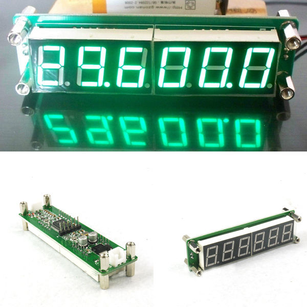 US $9 3 5% OFF|0 1 MHz~65MHz RF 6 Digit Led Signal Frequency Counter  Cymometer Tester meter GREEN FOR ham radio Amplifier-in Integrated Circuits  from