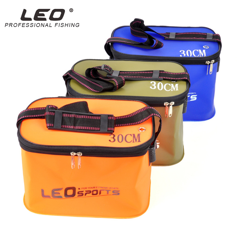 Leo EVA Portable Folding Bucket For Fish Water 30 35cm With Handle Leakproof Outdoor Fishing Gear