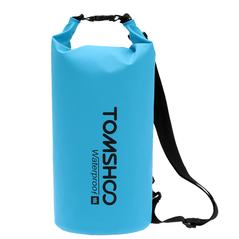 TOMSHOO 10L 20L Swimming Waterproof Bags Storage Dry Sack Bag with Phone Case for Travel Kayak Canoeing Camping Outdoor Bags