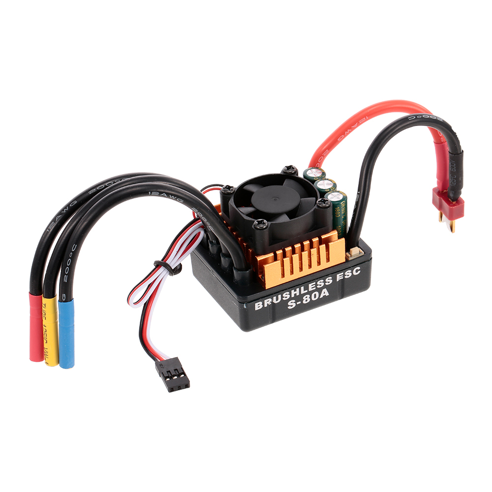 1:8 1:10 RC Car Part Programming Card And 60A 80A 120A Brushless 2-3s 2-4s ESC With BEC For TRAXXAS RC Car Off-road Crawler