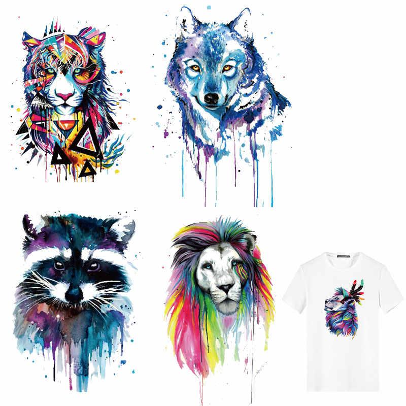 Симпатичные Красочные собаки Сова Тигр нашивки в форме животных одежда аппликации Декор теплопередача Плавкие Одежда Наклейки футболки DIY ПВХ E