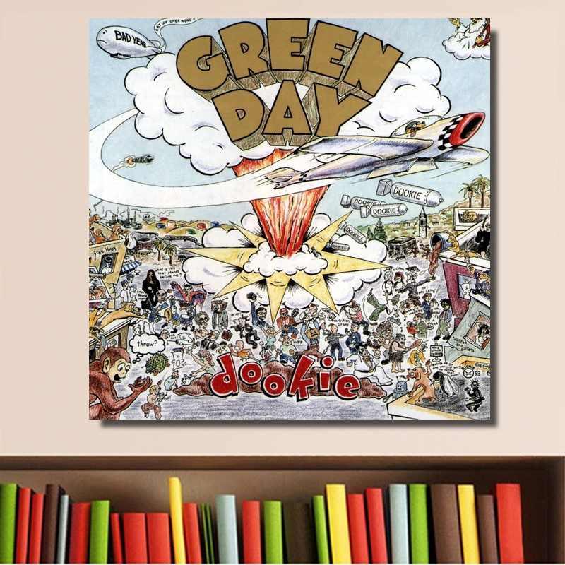 Green Day logo full color indoor//outdoor green /& black Vinyl Sticker Decal