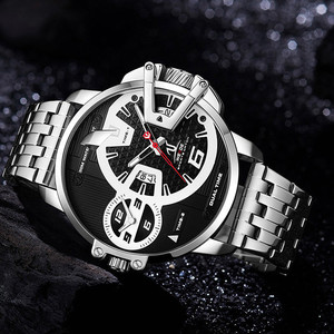 Image 2 - WEIDE גברים שעונים ספורט צבאי רצועת לבן חיוג תנועה אנלוגי שעון קוורץ שעוני יד עמיד למים Relogio Masculino reloj