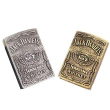 Metal Lighter Emery Wheel Gas Household High-Grade Bronze Relief Lighters Smoking Accessories For Men High Quality