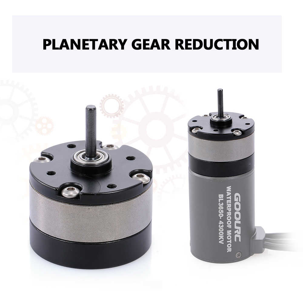 1//3 Planetary Gear Reduction Unit for 540 Motor RC Car Metal Gear box M9Z7