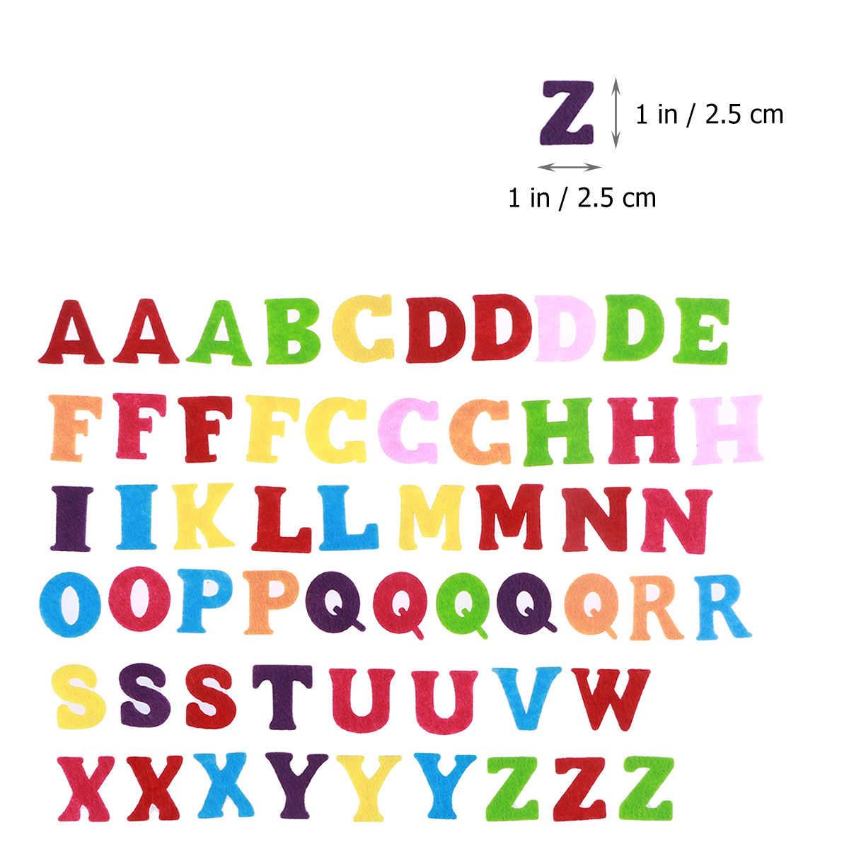 50pcs DIY Voelde Niet-geweven Stof Abc Letters Alfabet DIY Craft Handgemaakte Accessoire Voor Scrapbooking Kinderen Speelgoed Geschenken decoratie