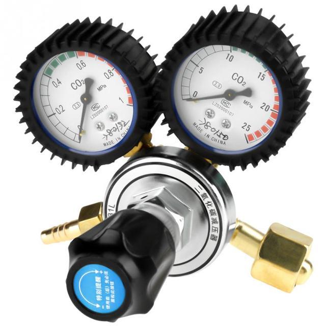 CO2  Reducer Gas Bottle Pressure Regulator Brass Carbon Dioxide Welding Pressure Reducer