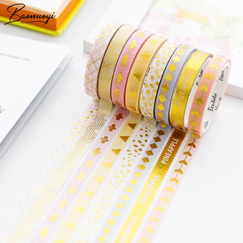 4Rolls/Set Flamingo Washi Masking Tape Set Pineapple Paper Masking Tapes Japanese Washi Tape Diy Scrapbooking Sticker