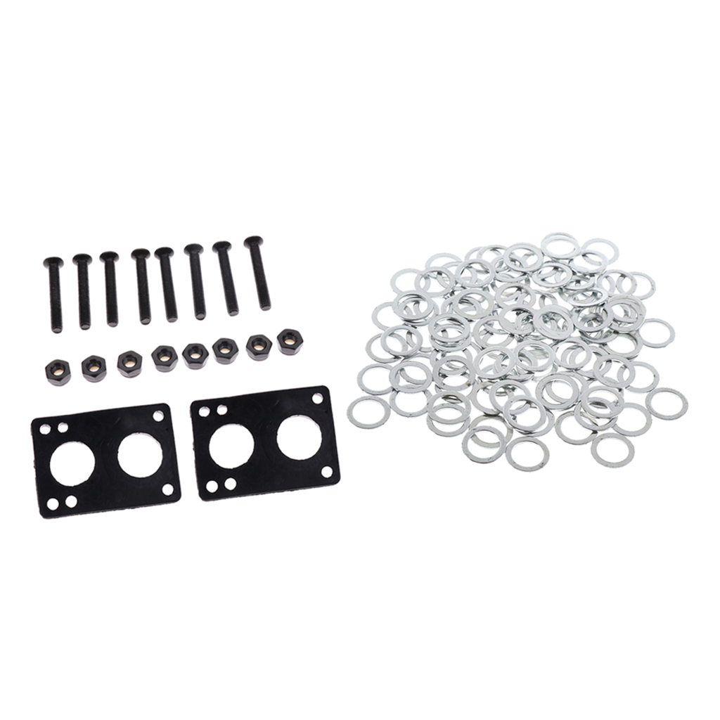 Skateboard Hardware Set Truck Speed Washers And Screws Nuts Riser Pads Set