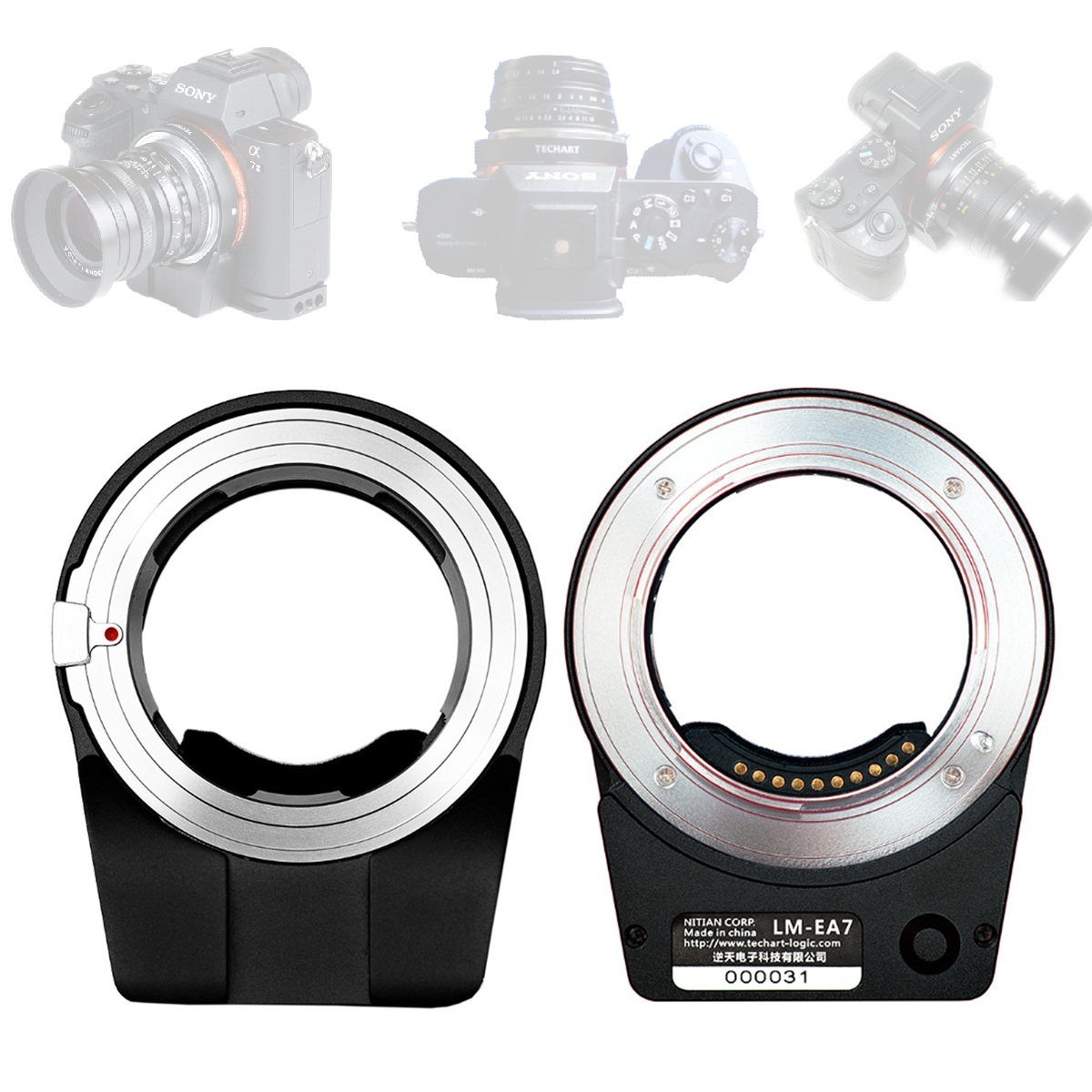 TECHART Pro LM-EA7 Auto Focus AF Lens Adapter Ring for Leica M LM Lens & Sony NEX E FE Mount MD/A/EF/FD/PK/M42/AI/EOS/LM-NEX цена