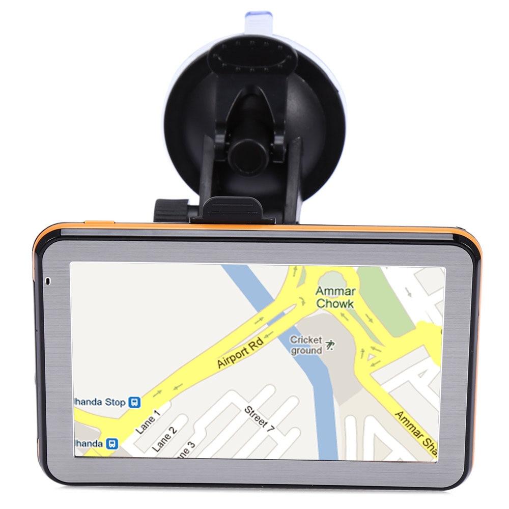 Новинка-диагональю 5 дюймов Автомобильный Gps навигатор сопротивление Экран Пресс Экран 8G 256Mb Mp3/Mp4 голос вождения навигационное устройство