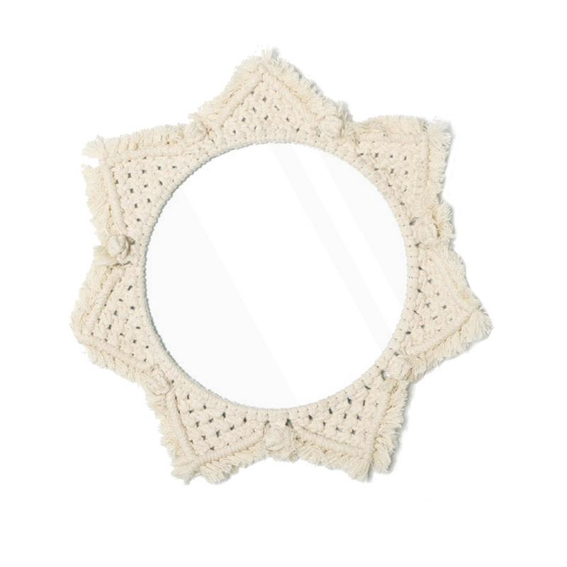 Round Bohemian Mirror Macrame Hand - Made Cotton Rope Home Hanging Wall Stylish Bedroom Decoration Supplies