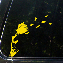 CAR Rose In the Wind Fashion Personality Creative Classic Attractive Vinyl Decor Decals Car Stickers