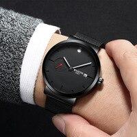 WLISTH New business quartz watches men's large dial watch brand fashion watch miguel bracelet watches Classic black steel Clock