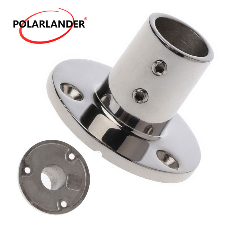 """Round 2018 Boat Parts & Accessories 90 Degree Base Hardware 0.98""""(25mm) Tube Hand Rail Fitting Stainless Steel Marine Boat"""