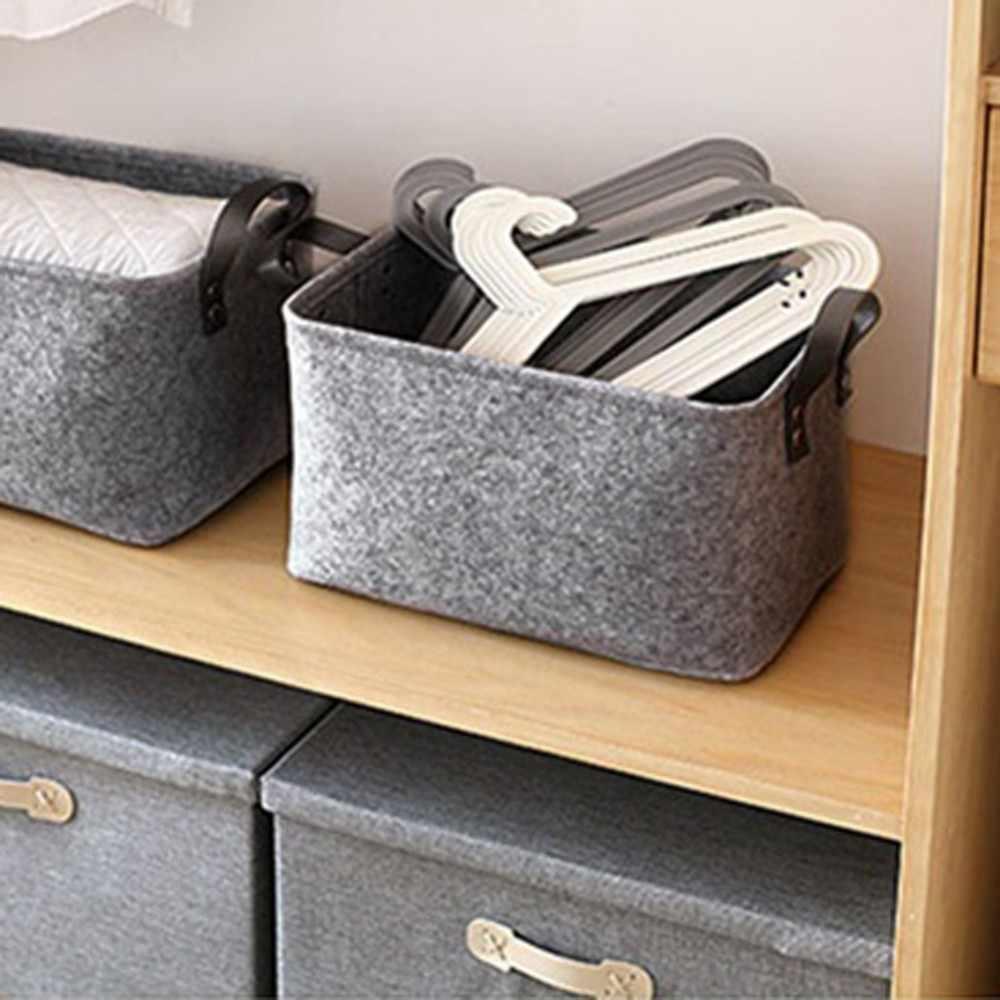 Шерстяные войлочные корзины для хранения игрушка книга Складная Прачечная Корзина для грязного белья корзины для игрушек держатель для одежды сумка для хранения дома 2019 Новинка
