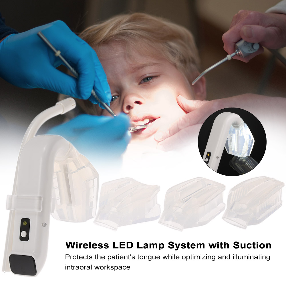 Dental Intraoral Light with Suction Wireless LED Lamp System Intraoral LED Light Oral Hygiene Dentist Illuminator