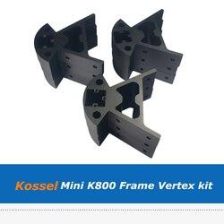 Reprap Delta Kossel Mini K800 rogu okucia 3D drukarki montażu ze stopu aluminium ze stopu aluminium uchwyt na silnik rama dolna i górna Vertex zestaw