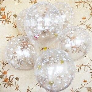 Image 4 - Ballons en Latex pour anniversaire, 10 pièces, 12 pouces, étoile transparente, noire et blanche, ballons à Air, jouet de décoration pour enfants