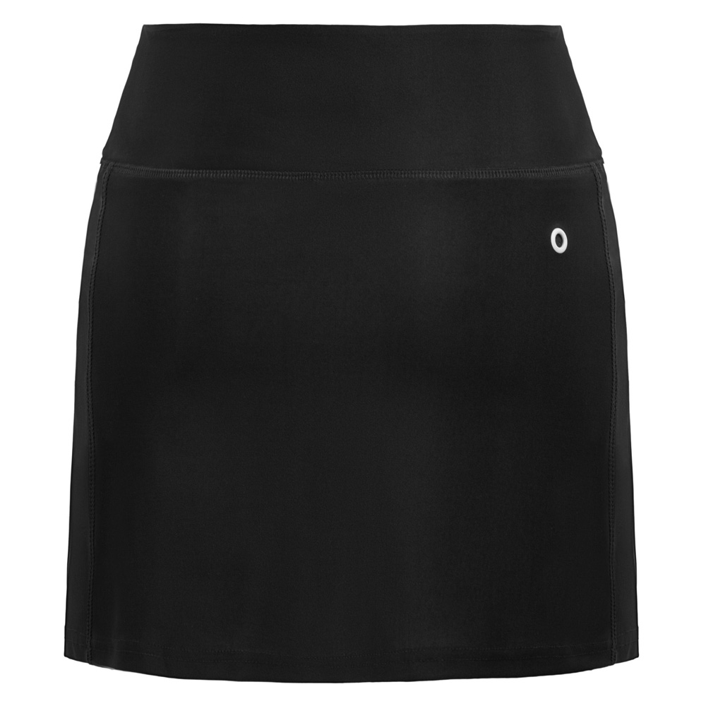 Women Athletic Sports Elastic Waist Stretchy Culotte Skort With Mesh   Shorts