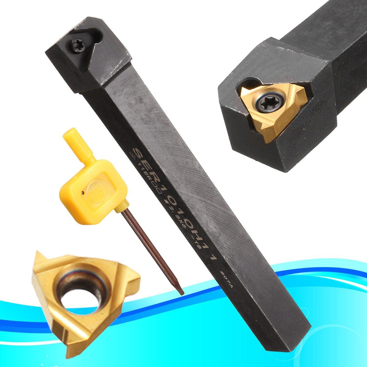 1Pcs SER1010H11 Threading Turning Tool Holder + 11ER 1/4