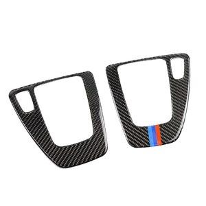 Image 3 - ل BMW 3 series E90 E92 E93 2005 2006 2007 2008 2009 2010 2011 2012 ألياف الكربون والعتاد التحول غطاء لوحة التحكم LHD/RHD