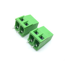 شحن مجاني 100 قطعة/الوحدة 5.0 2Pin PCB برغي ربط محطة كتلة موصلات 300 فولت 10A KF128 2P المكونات في 5.0 مللي متر الأخضر
