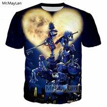 Game Kingdom Hearts 3D Print Tshirt Men/women Harajuku Kawaii Streetwear Tee T-shirt Boy T shirt Man Custom KH Clothes camiseta