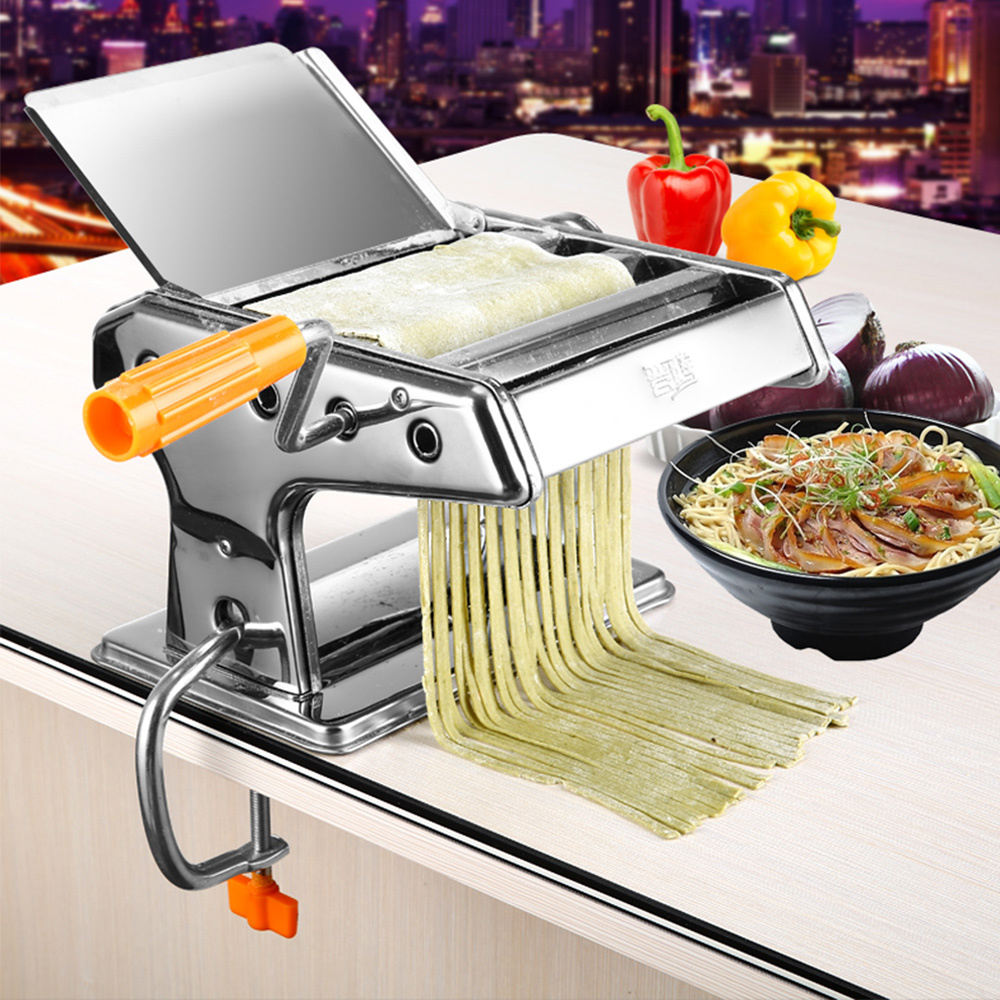 Stainless Steel Ordinary Household Pasta Making Machine Manual Noodle Maker Hand Operated Spaghetti Pasta Cutter Noodle Hanger-in Pasta Machines & Attachments from Home & Garden    1