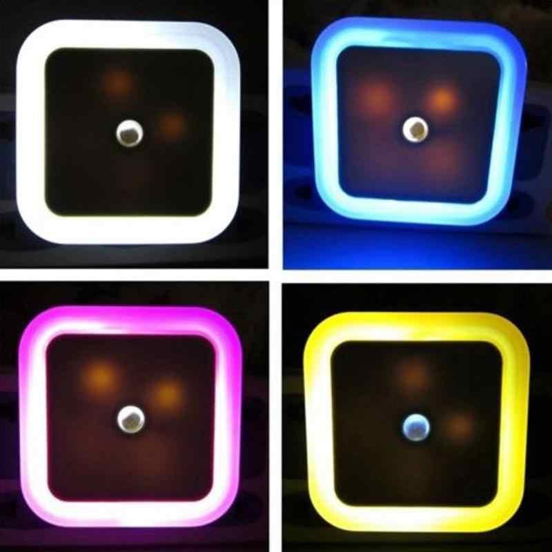 Мини светодиодный управление световым датчиком ночник квадратная лампа для спальни ЕС США вилка свет индукция детское освещение туалет ванная комната огни