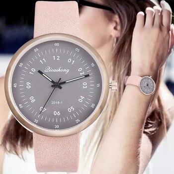 2020 Watch Woman Casual Faux Leather Quartz Wristwatch Bracelet Reloj Mujer Relogio Feminino Montre Women Watches Zegarek Damski