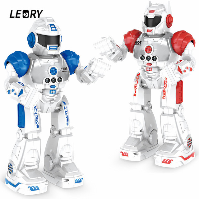 LEORY Gesture Sensing RC Robot Wireless Control Programming Music Robot Model Toy Smart Child Educational Toy For Children Gift