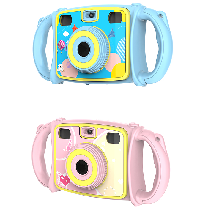 Jouet électronique caméra bande dessinée double objectif Zoom appareil Photo numérique jouet pour enfants - 5