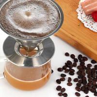 Filtro de café de acero inoxidable astilla filtros de café de goteo embudo de malla metálica multifunción herramienta de filtro de té de café 3 tamaños|Filtros de café| |  -