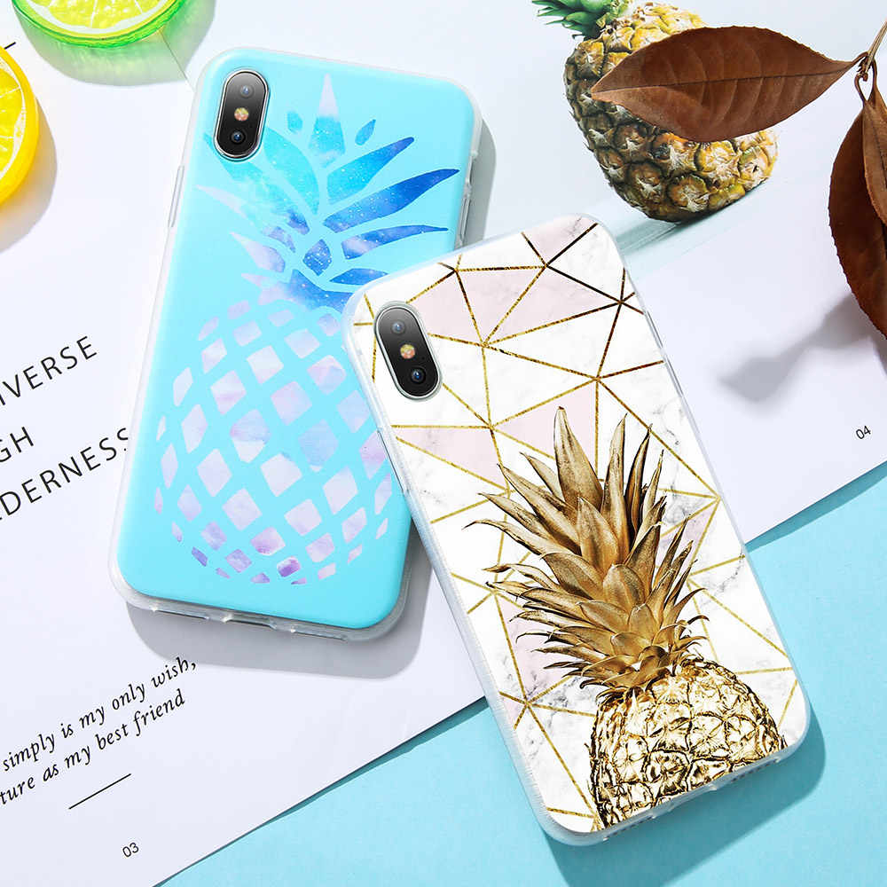 KISSCASE Summer Fruit Pineapple Soft TPU Phone Case For Samsung Galaxy A5 A7 A3 J3 J5 J7 S8 S9 S7 Note 8 9 2016 2017 Cute
